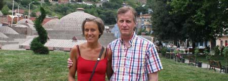 Cecilia & Per vid thermalbaden i Tbilisi, Georgien