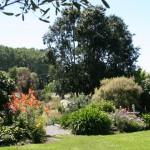 En del av Mainline Station Café's trädgård