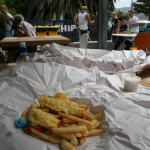 Fish ´n chips i Akaroa