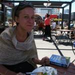 Lunch på en containerrestaurang i Christchurch