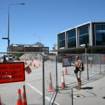 Stora delar av Christchurch är avspärrat...