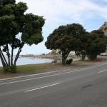 Esplanade i Kaikoura trevlig strandväg
