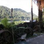 Hotellet ligger vackert vid Buller River